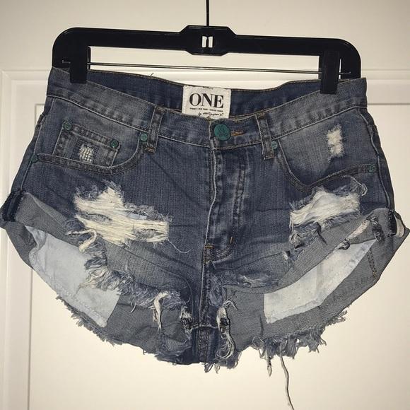 73febb84ee One Teaspoon Shorts | Denim Size 24 | Poshmark